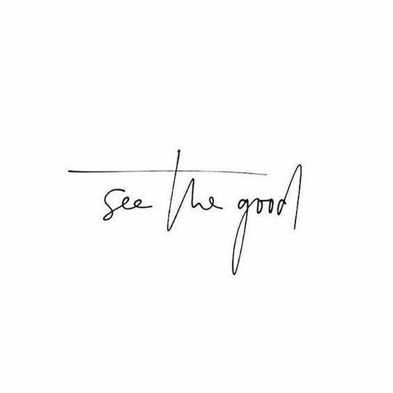 Immer das Gute sehen! -  Immer das Gute sehen!  - #das #diyjewelrytosell #Gute #handmadejewelrydiy #immer #pandoracharms #sehen #strengthtattoo #tattooink #temporarytattoodiy #goodtattoos