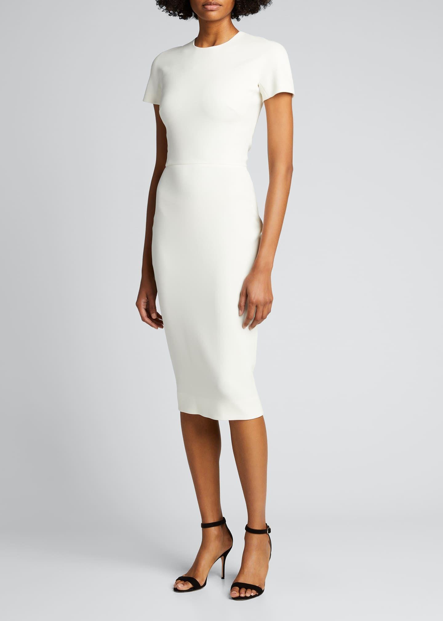 Victoria Beckham Fitted T Shirt Dress T Shirt Dress Shirt Dress Dresses [ 2016 x 1440 Pixel ]