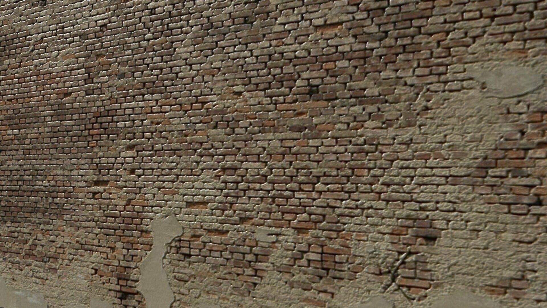 Render De Muro Con Textura Y Normalmaps
