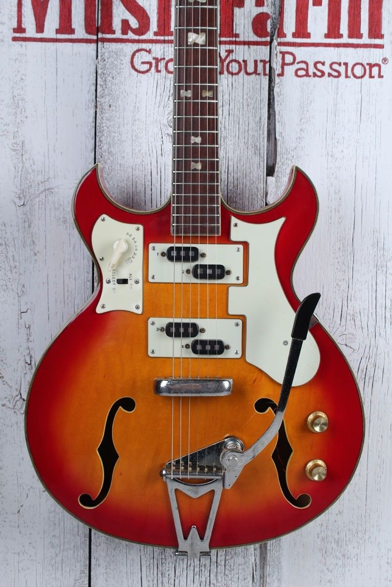 Norma Vintage 1960s Barney Kessel Hollow Body Electric Guitar Made String Diagram Ebay Gig Bag In Japan