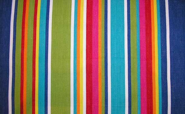 Wipe Clean Oilcloth Fabric Is Perfect For Making Mats Runners And Tablecloths Striped In Lovely Bright Stripes