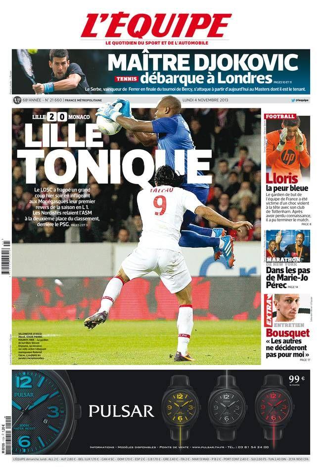 L'Équipe Lundi 4 Novembre 2013 N° 21660 Sport, Psg