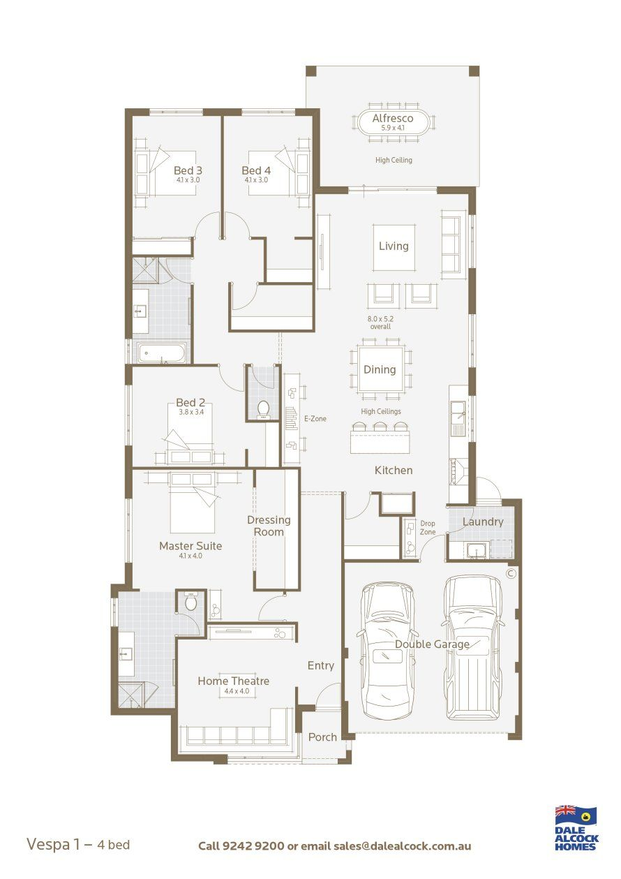 Vespa Floor Plan, Builderu0027s Model In Perth, Australia.