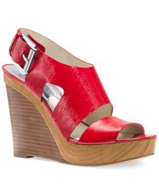 72bb2cc761b MICHAEL Michael Kors Carla Platform Wedge Sandals