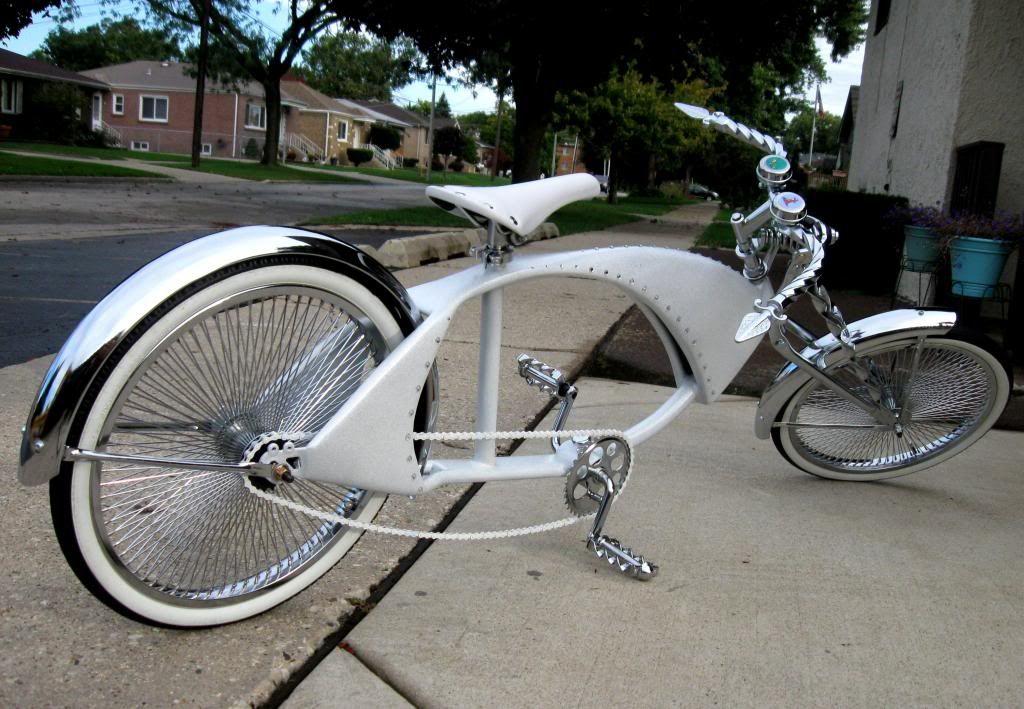"20/"" Beach Cruiser Bike Bicycle Lowrider Chopper Schwinn Frame Chrome"