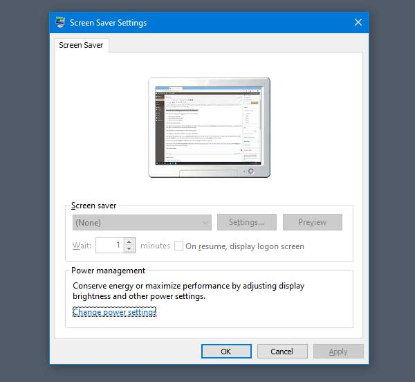 Fix Screen Saver Settings Greyed Out In Windows 10 Windows 10 Savers Windows