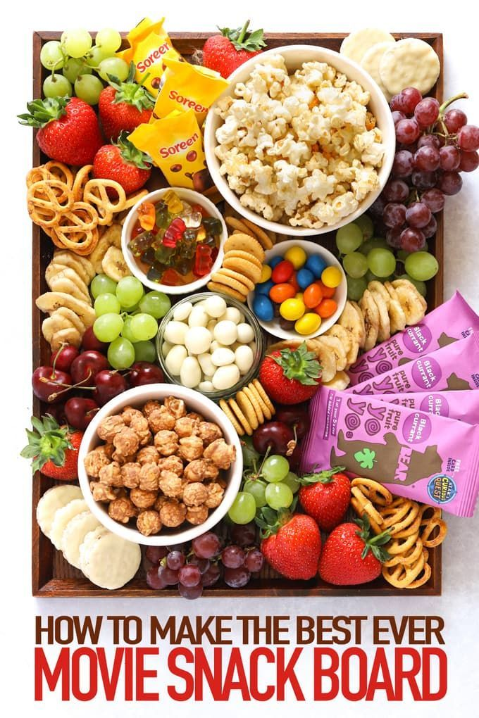 This Popcorn Movie Platter is the perfect board of snacks and treats whilst watching a movie. For ki