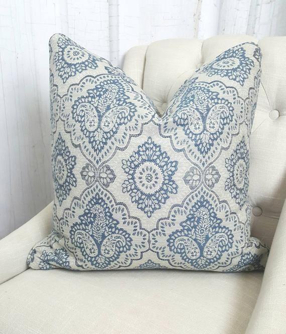 Superb Blue Pillow Cover 24X24 26X26 22X22 20X20 18X18 16X16 Blue Inzonedesignstudio Interior Chair Design Inzonedesignstudiocom