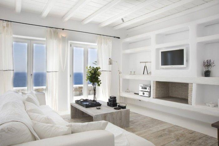 Wonen In Wit : Prachtig wonen in wit met een houten vloer mooi gebruik van