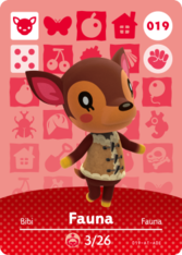 Fauna Animal Crossing Amiibo Cards Animal Crossing Characters Animal Crossing Villagers