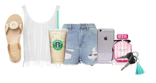 """starbæ's"" by libster4404 ❤ liked on Polyvore featuring мода, Topshop, Victoria's Secret, Tiffany & Co. и Jack Rogers"
