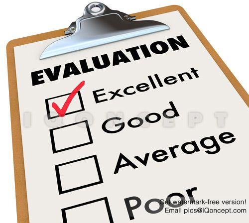 Evaluation Report Card Clipboard Assessment Grades Stock Photo - evaluation report