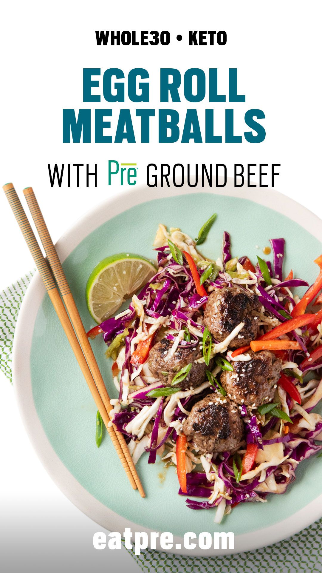 Egg roll meatballs with cabbage slaw recipe whole 30
