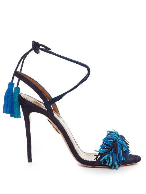 8020a4d61 AQUAZZURA Wild Thing Suede Fringed Sandals.  aquazzura  shoes  sandals