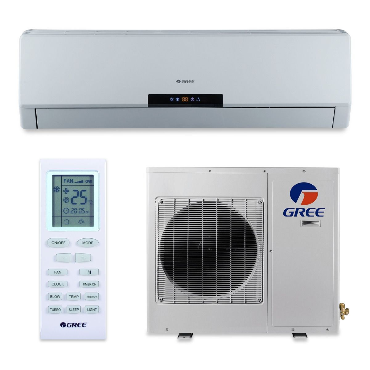 Gree 12 000 Btu 22 Seer Vireo Wall Mount Ductless Mini Split Air Conditioner Heat Pump 115v Ductless Mini Split Heat Pump Ductless