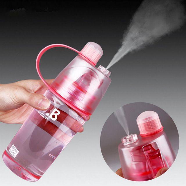 400 ml criativas de pulverização de água cantina beleza esportes equitação um frasco de Spray fresco copo espaço copo nutrição resistente garrafa personalizada