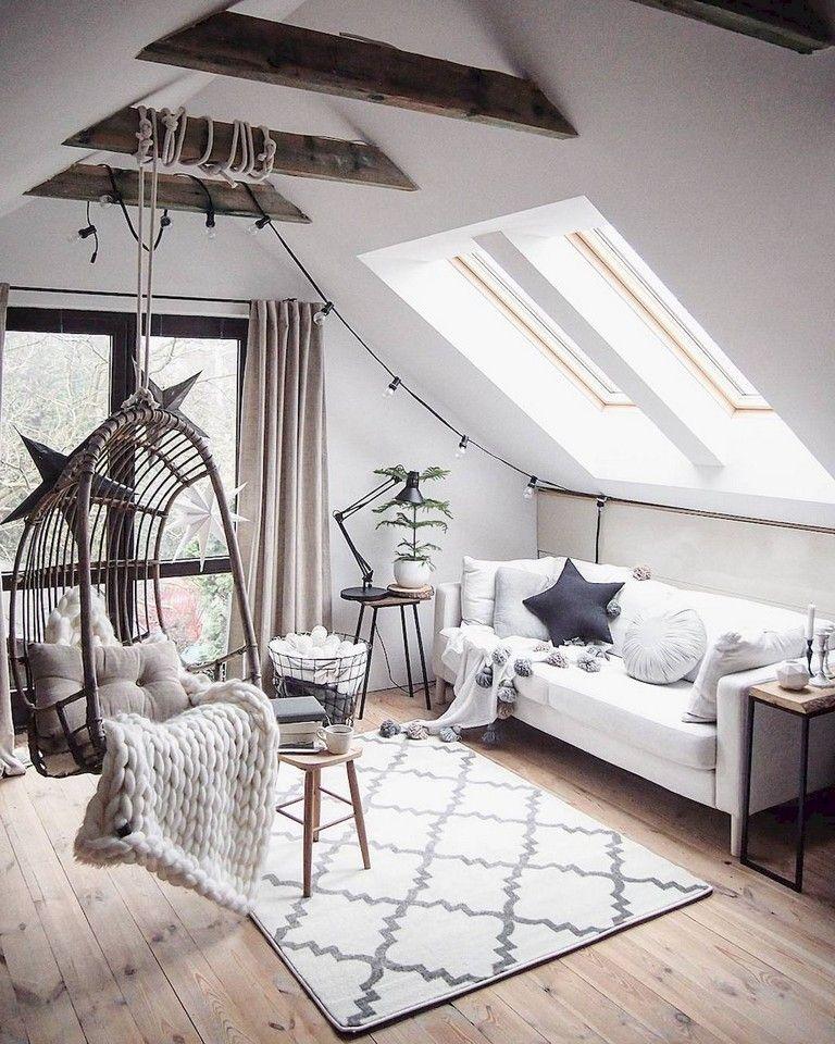 71 Smart Designs Features Maximize Space Attic Apartment Attic Living Rooms Attic Design Small Room Design