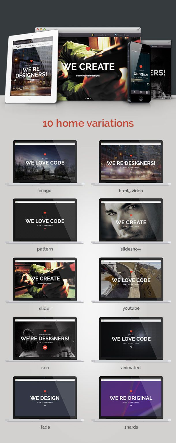 Flair - One Page Responsive HTML5 Template | Template