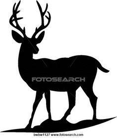 deer silhouette baby boy pinterest baby deer art clipart and rh pinterest com deer head silhouette clip art whitetail deer silhouette clip art