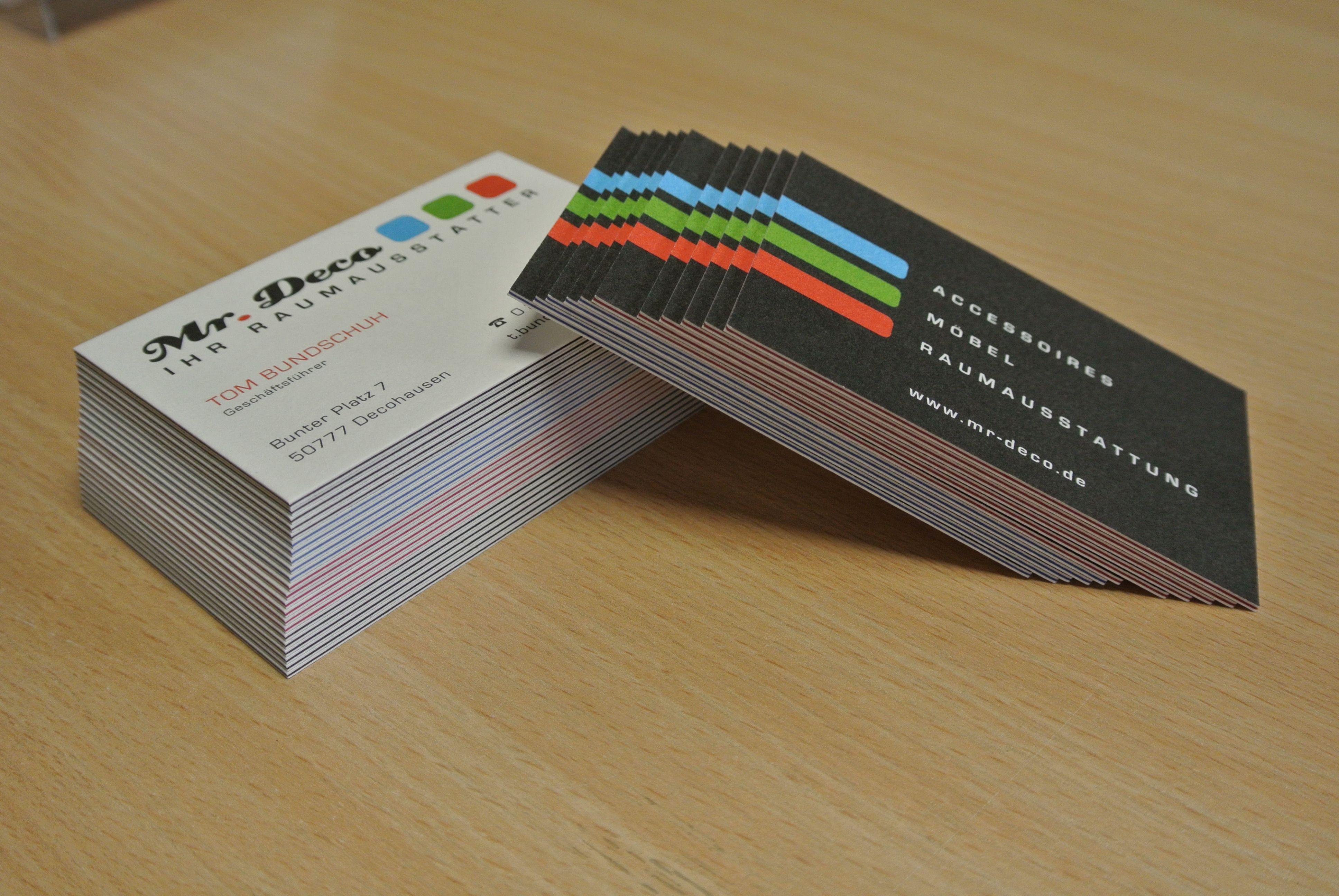 Visitenkarten Drucken Im Offset Oder Im