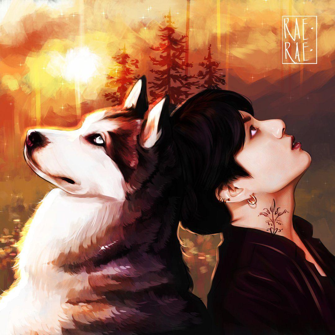 Пин от пользователя мαnуα на доске BTS Art | Черные волки ...