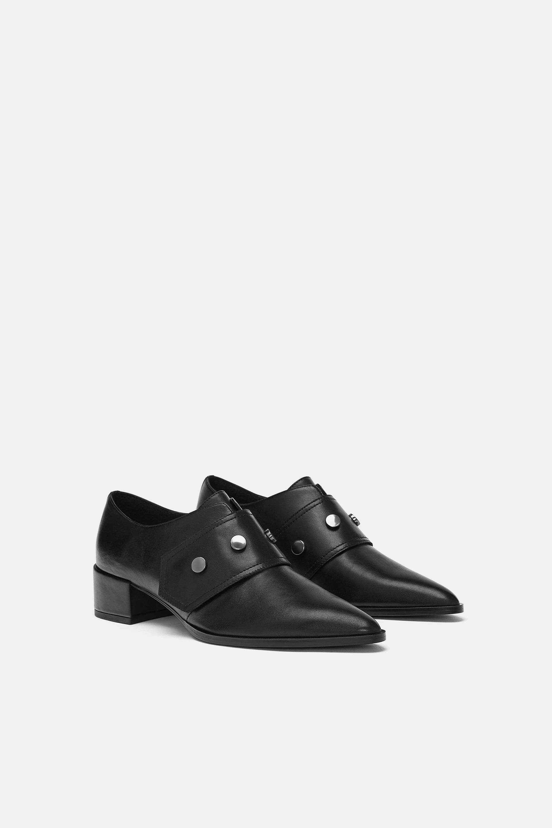 5f8f6abfd303 LEATHER POINTED MONK STRAP SHOES