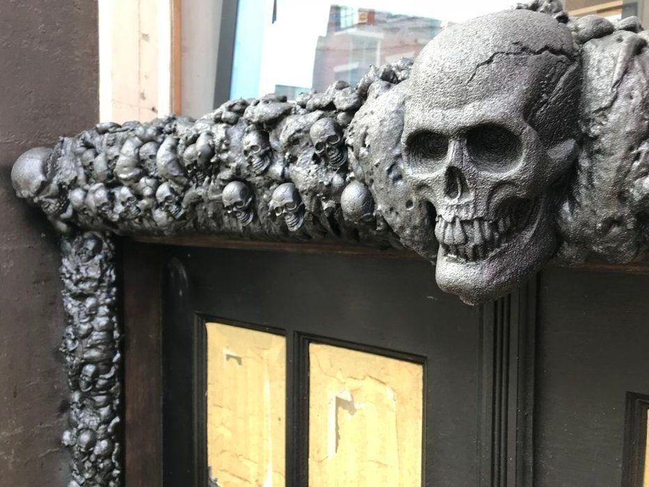 Skull Door Frame Entrance Decoration Door Frame Picture Frame Crafts Gothic House