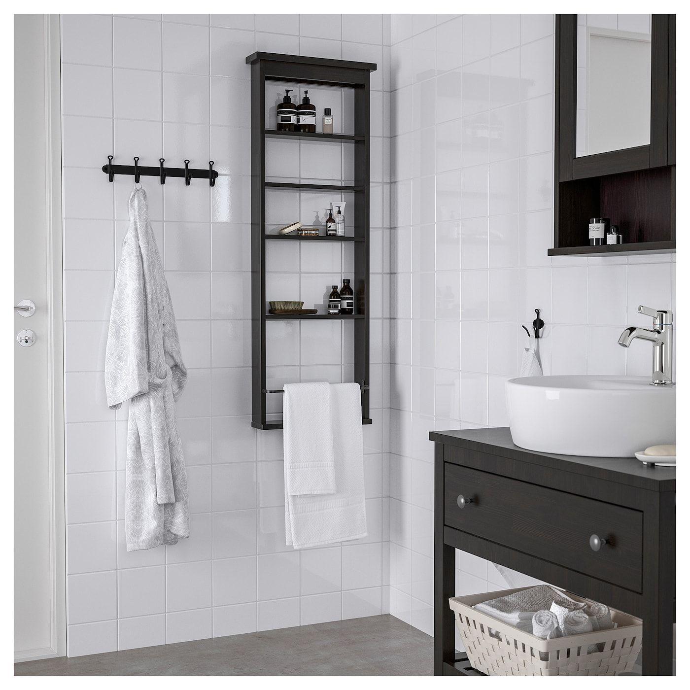 ikea hemnes black brown wall shelf in 2019 ikea wall on wall shelf id=89780
