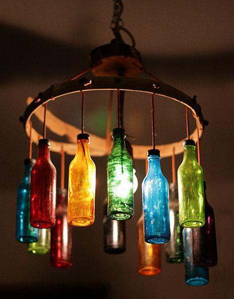 17 Lampara frasco vidrio