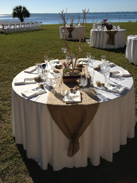 Powel crosley fall wedding ceremony and reception on for Wedding ceremony table decorations
