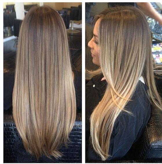 Балаяж на русые волосы - 200 фото длинных и коротких волос ...