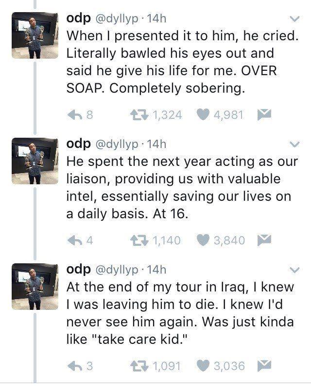 War Veteran's Twitter Thread About Crazy Chance Encounter ...