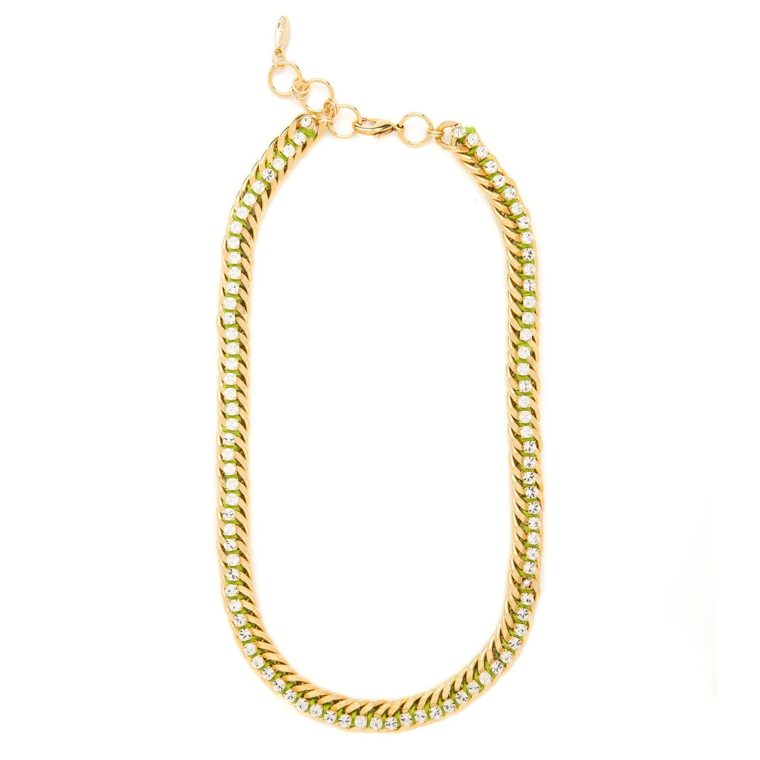 Cultured & Cool Necklace in Lime