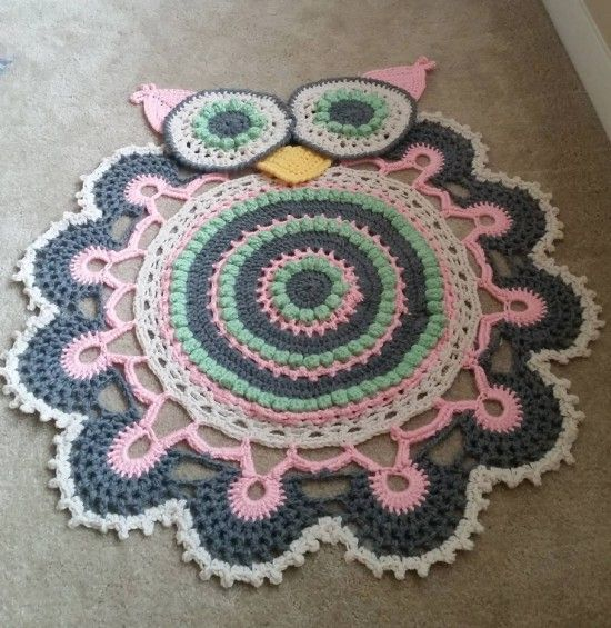 Free Crochet Patterns For Baby Rugs : Owl Crochet Rug Pattern All The Cutest Ideas Crochet ...