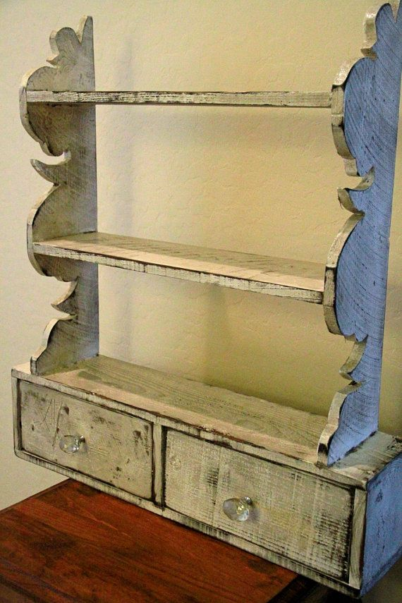 French Country Wall Shelf Cottage Chic Kitchen