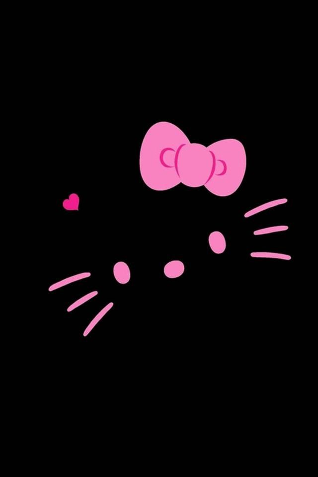Black And Pink Hello Kitty Face Wallpapers Electronic Device