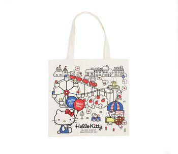 Hello Kitty Canvas Shopper: Natural