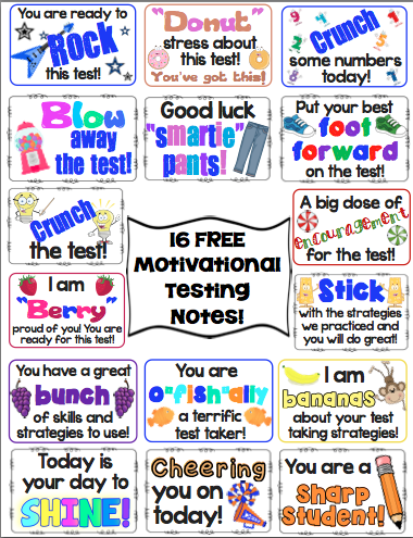 Test Prep: Motivational Testing Notes FREEBIE ...