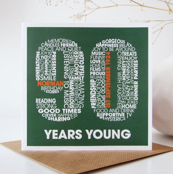 Personalised 90th Birthday Card Personalized By MrsLcards