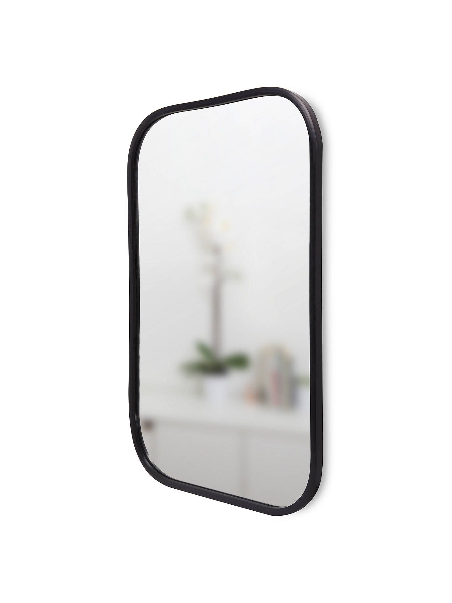Umbra Rounded Corners Mirror H93cm Black Corner Mirror Mirror Round Corner