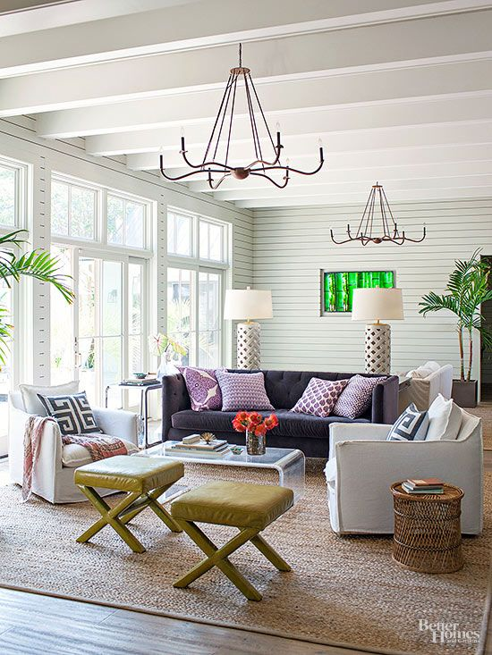 Lay The Groundwork For Managing Wide Open Spaces Arrange Cozy Conversation Groupings Eac Living Room Decor Cozy Living Room Plan Living Room Furniture Layout