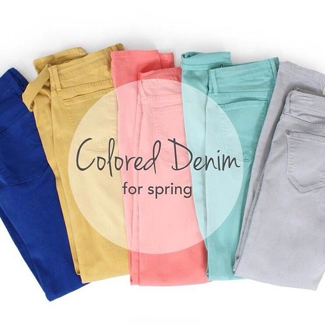 This spring we are loving the range of pastel denim!  Try styling yours with florals or a bright solid for an on-trend seasonal look!