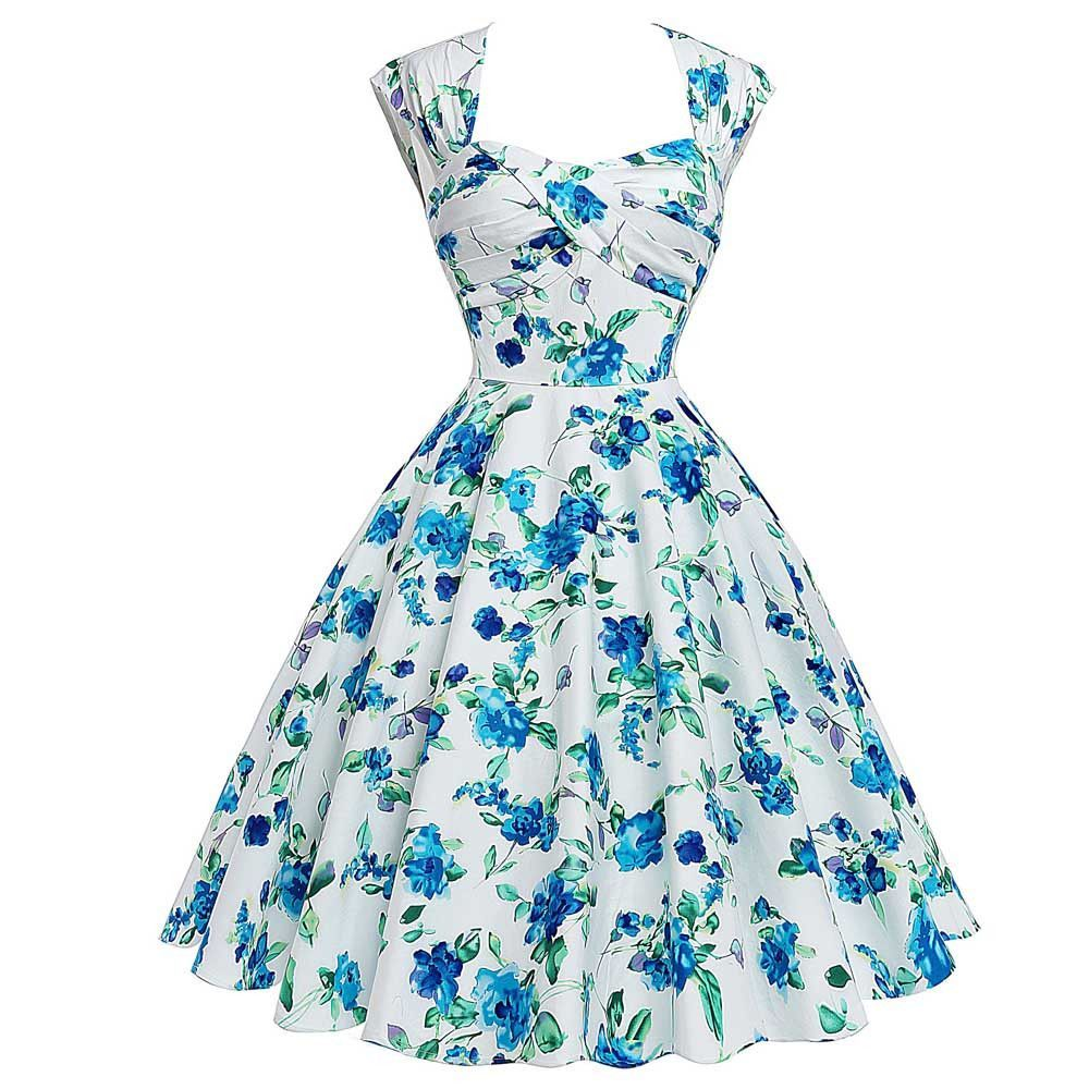 Casual Stylish Rockabilly Party Dress | Casual party dresses, 50s ...