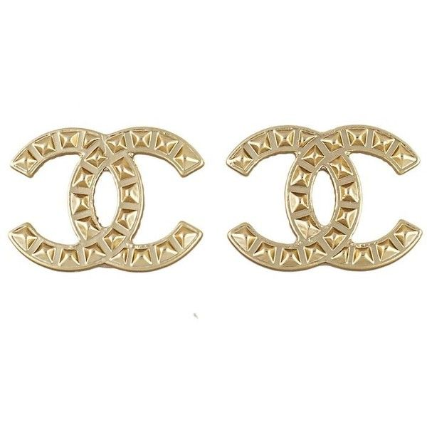 Preowned Chanel Cc Stud Earrings 263 Liked On Polyvore