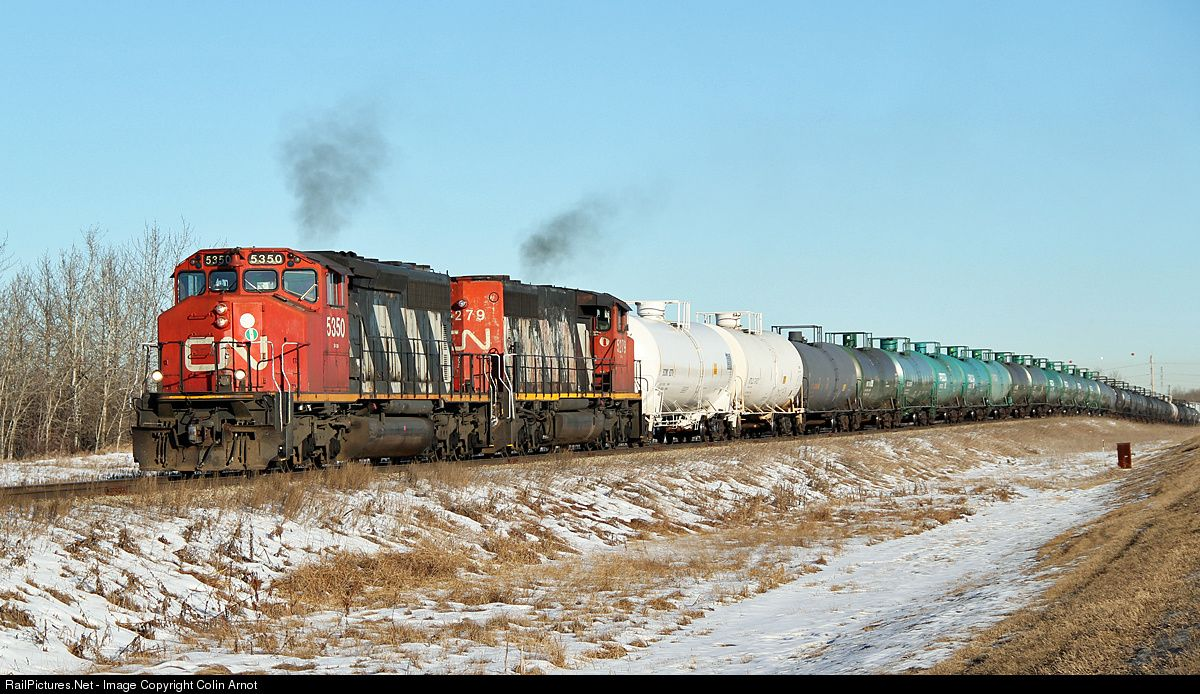 RailPictures.Net Photo: CN 5350 Canadian National Railway SD40-2(W) at Scotford, Alberta, Canada by Colin Arnot