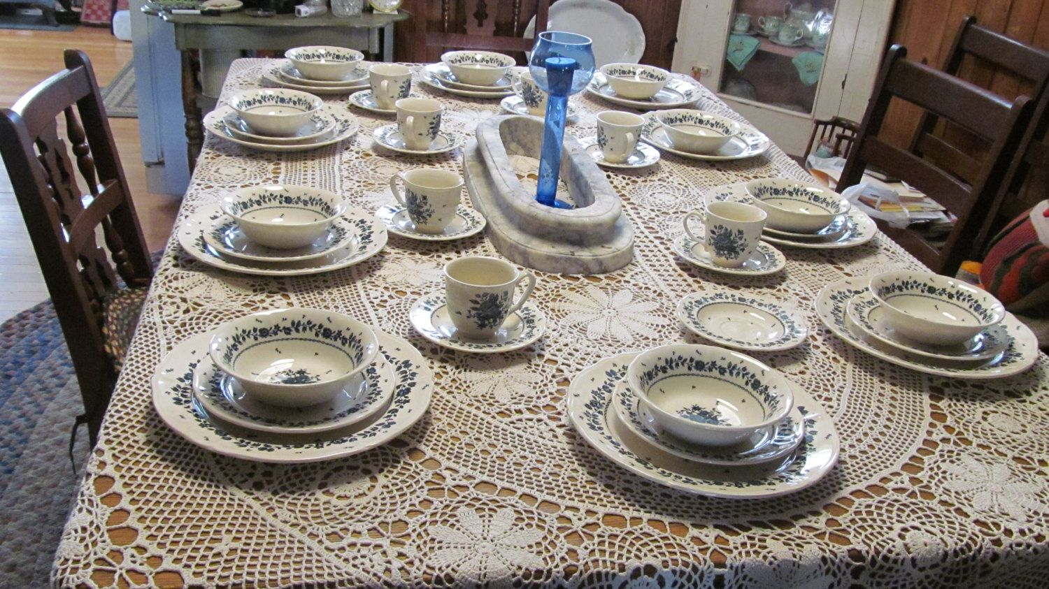 RARE Nikko Bouquet Blue And White Dish Set Malaysia Bouquet Table Mates  Daily Dining Dish Set