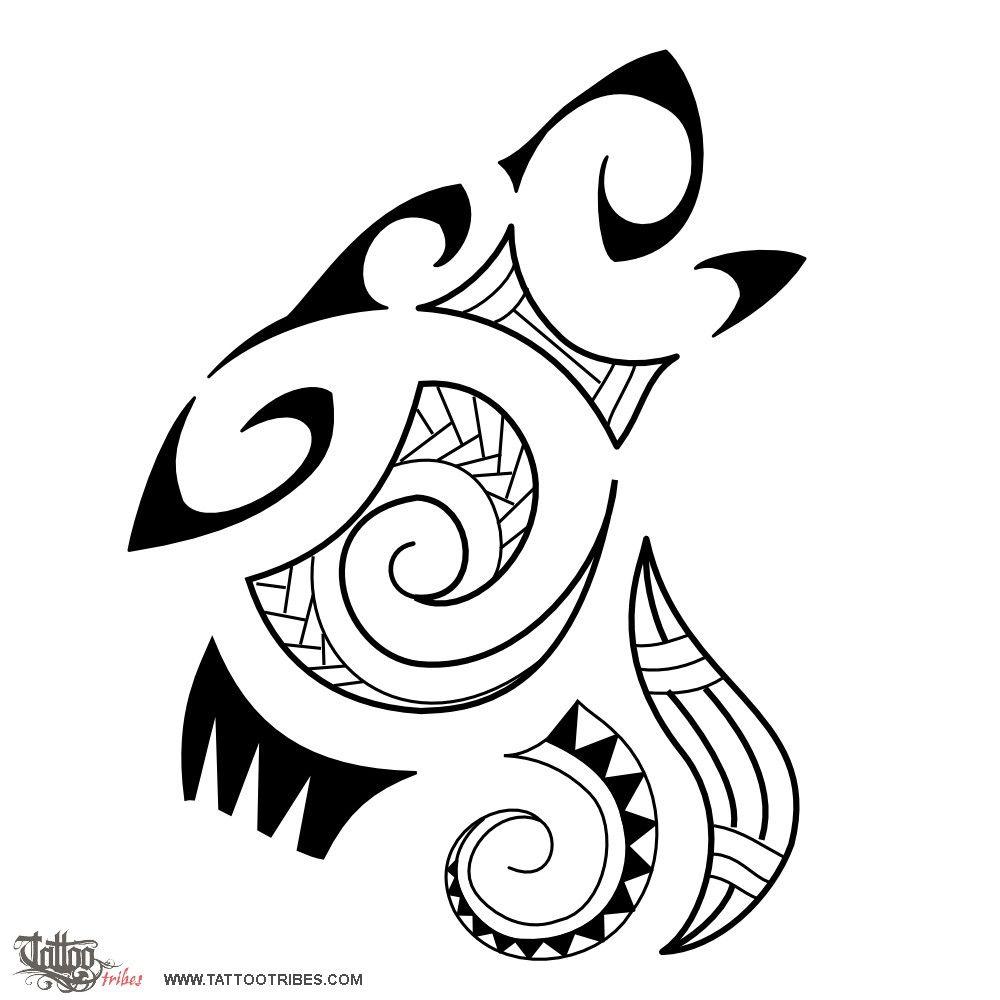 Custom Maori Tattoo Designs: Tatuaggio Di Lupo Stile Maori, Serie Maori: TERRA Tattoo