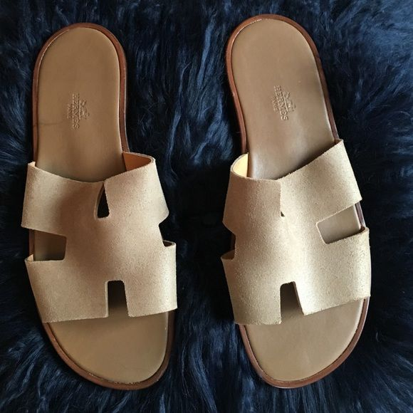 c0ed93641645 MENS Hermes Izmir Leather Sandals Real Izmir Leather Hermes Sandals. Worn  once. Size 45 Hermes Shoes