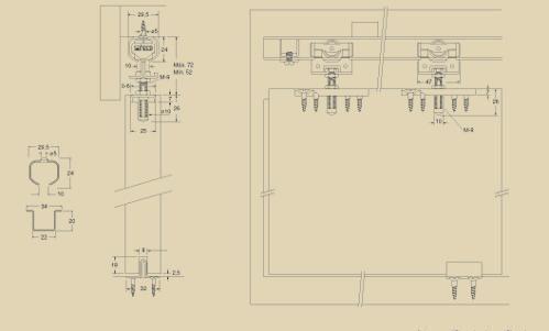 Top roller hinged sliding door system. Cargo …- Upper Ball …