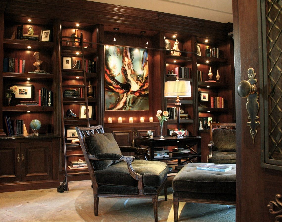 Classic Sophisticated Home Library Robeson Design Home Library